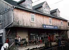 This is the front of the Outhouse Store