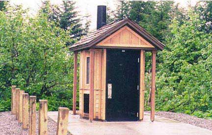 Newly designed Outhouse now in use in the National Forest