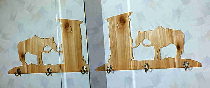 Hang your towels on this Outhouse Towel Rack