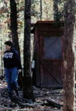 WV Commune Outhouse before snow