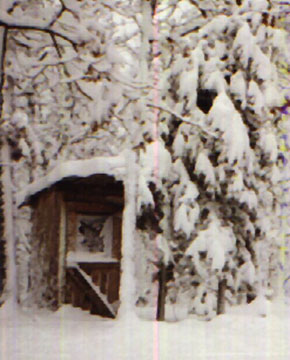 West Virginia Commune Outhouse in the Winter
