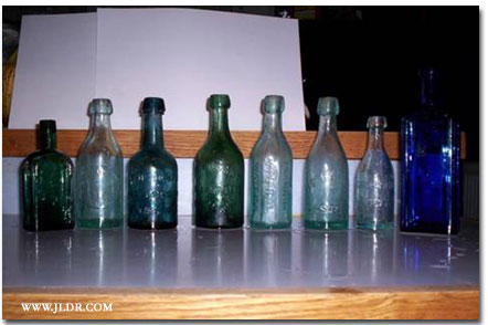 Bottles found during the dig