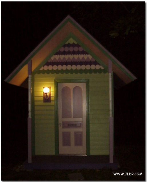 This Outhouse is Lighted at Night