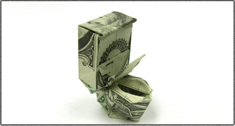 Outhouse made out of Money!