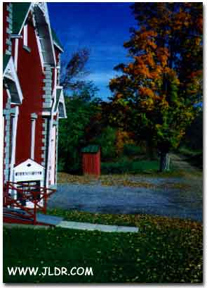 A beautiful Pennsylvania Outhouse Fall Scene
