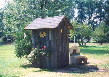 Front View of the Outhouse
