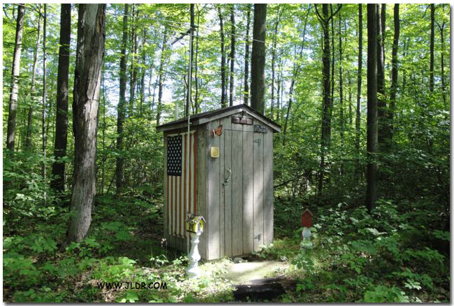 An Outhouse with some class