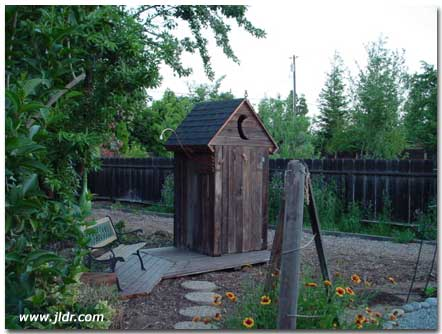 Outdoor Plumbing in an Outhouse?