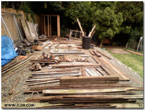 Lumber used for reconstruction