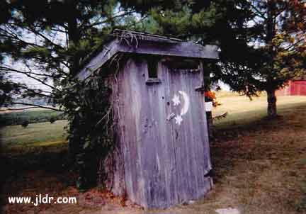 What a Classic Looking Outhouse!