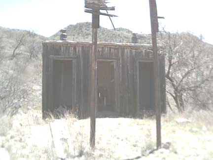 An Outhouse just outside the Ruby, AZ School