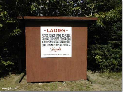 Please Don't Bathe Topless Outhouse