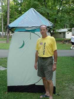 A Tent Outhouse for use during Camping