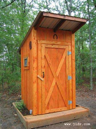 A beautiful East Texas Outhouse