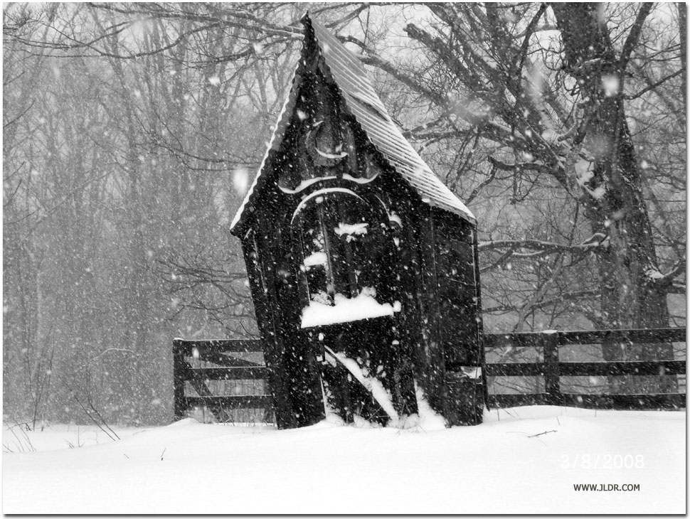 Witchy Oldham County Kentucky Outhouse