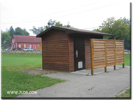 New Outhouses across from Yates Cider Mill, Rochester, Michigan
